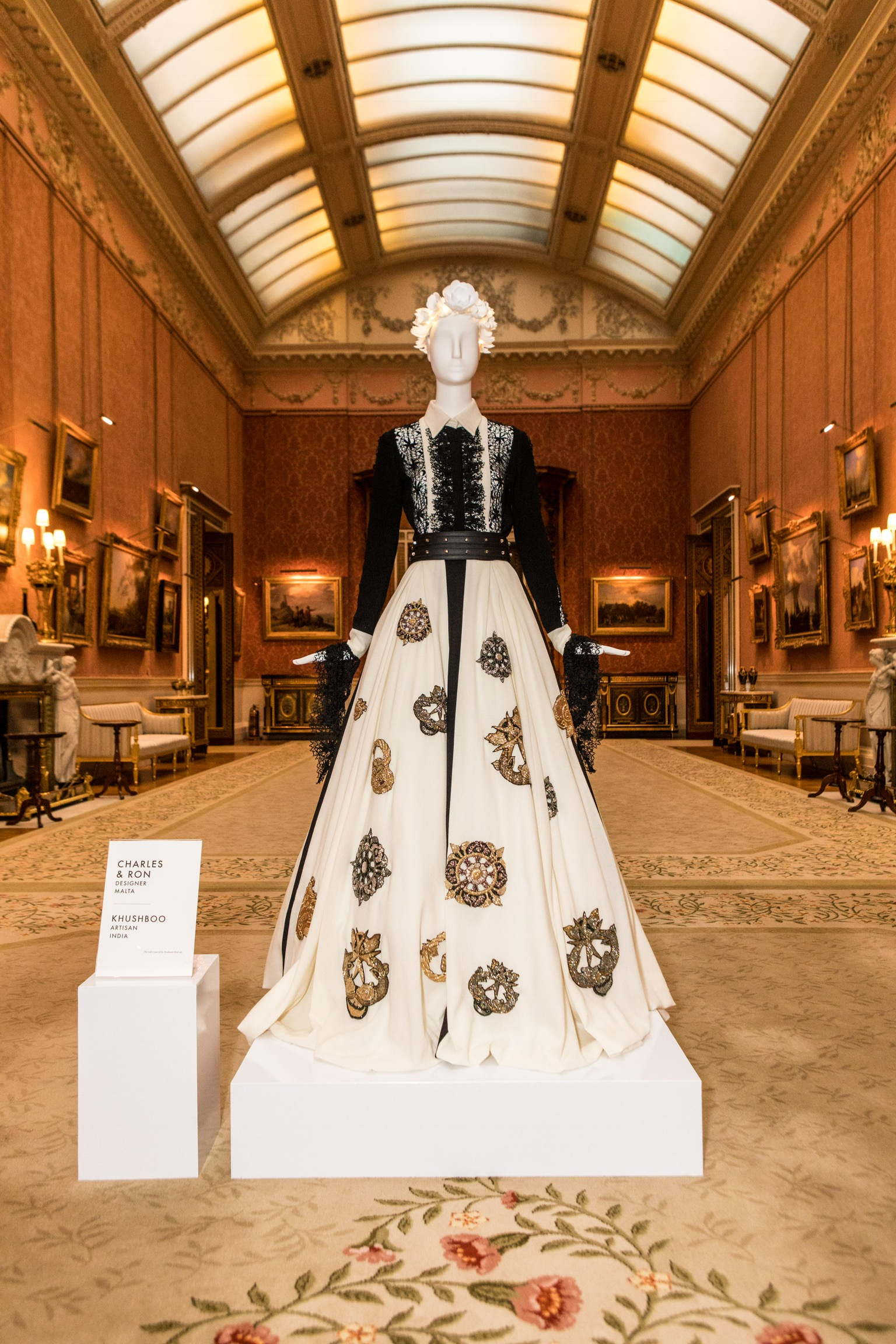 The gown in Buckingham Palace 2