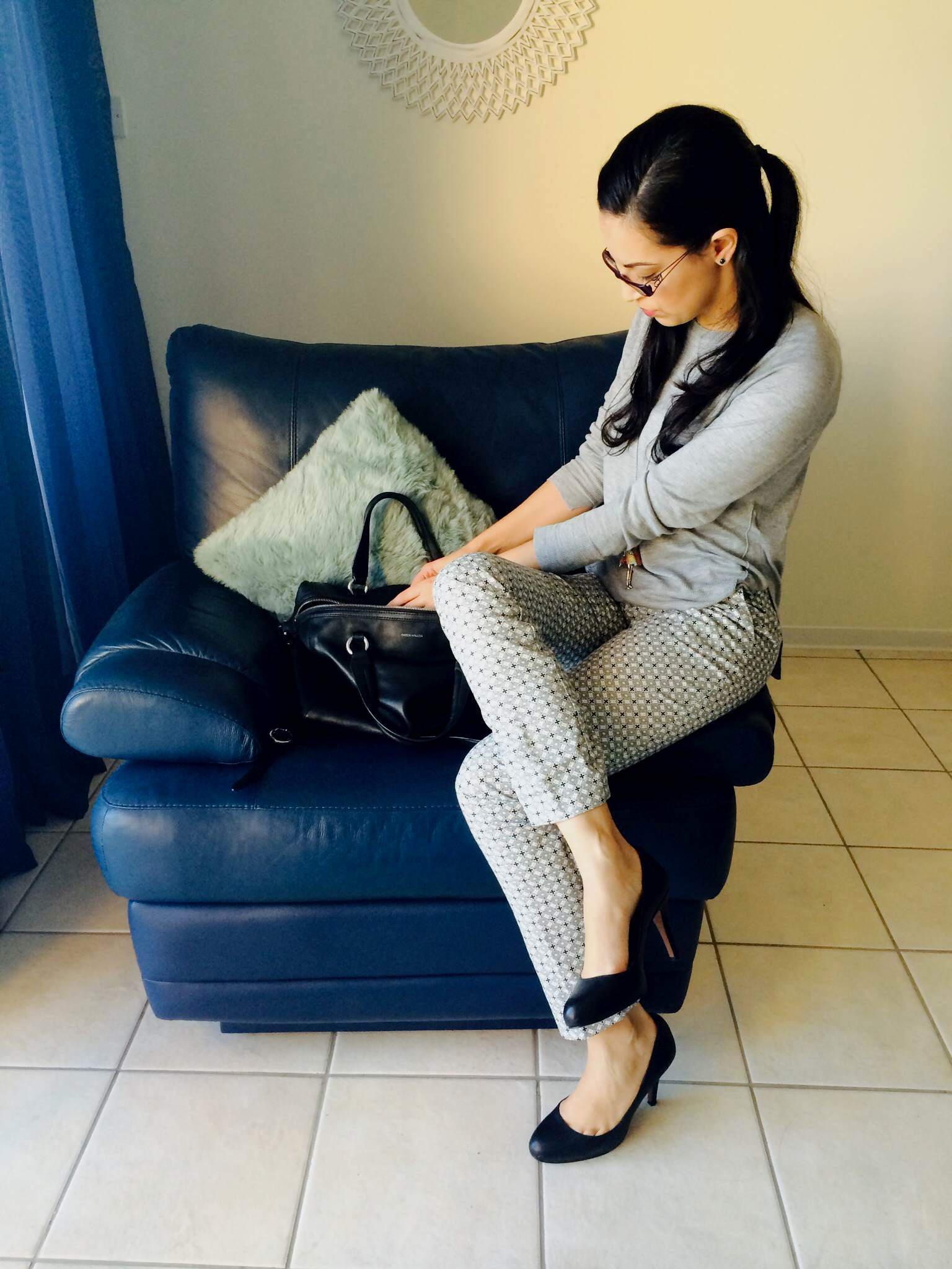 Of patterned pants and comfy heels!
