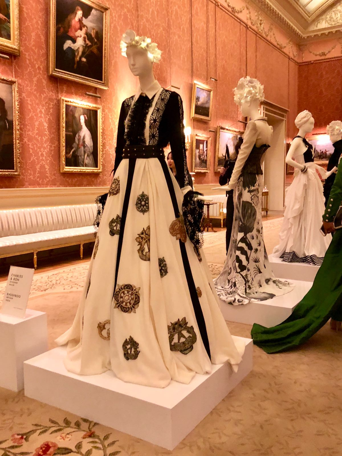 The gown in Buckingham Palace