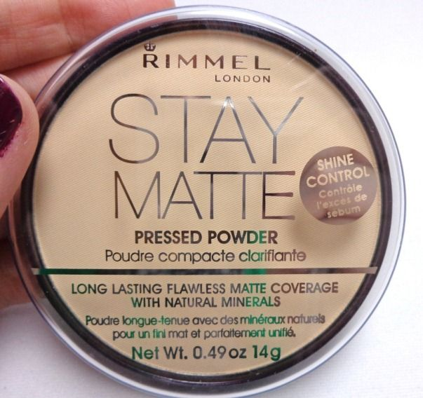 If you happen to wanna go Matte - Rimmel Stay Matte Pressed Powder